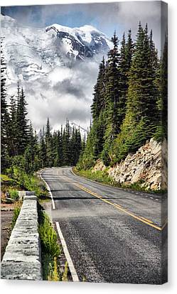 Canvas Print featuring the photograph Taking The High Road by Bob Noble Photography