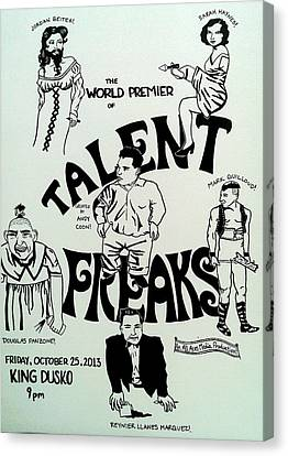 Sideshow Canvas Print - Talent Freaks Promotion Poster by Jordan Beiter