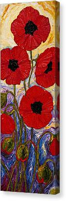 Tall Red Poppies Canvas Print by Paris Wyatt Llanso