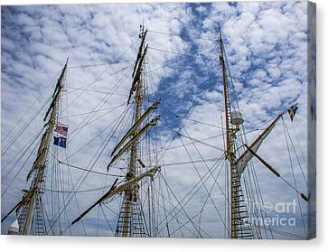 Canvas Print featuring the photograph Tall Ship Mast by Dale Powell