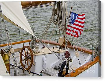 Canvas Print featuring the photograph Tall Ships by Dale Powell
