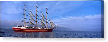 Tall Ships Race In The Ocean, Baie De Canvas Print by Panoramic Images