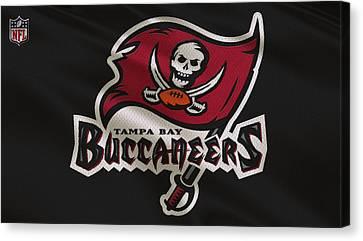 Buccaneer Canvas Print - Tampa Bay Buccaneers Uniform by Joe Hamilton