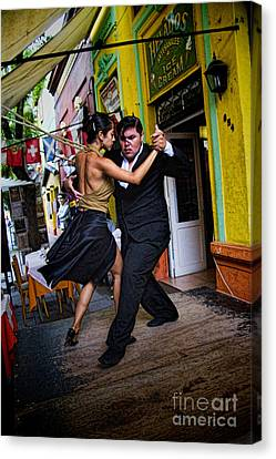 Buenos Aires Canvas Print - Tango Dancing In Buenos Aires Argentina by David Smith