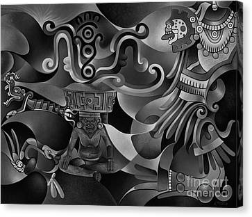 Tapestry Of Gods - Huehueteotl Canvas Print