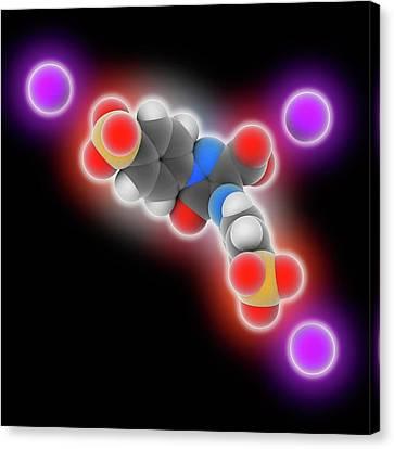 Tartrazine Molecule Canvas Print