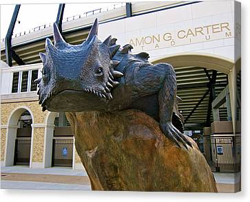 Tcu Horned Frogs..fear The Frog Canvas Print