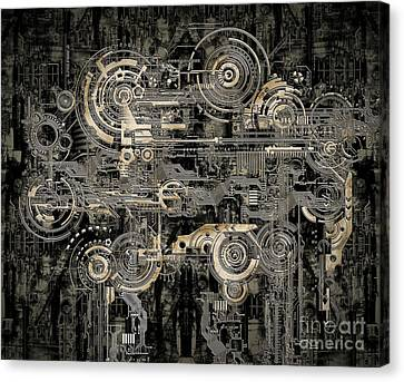 Technically Electronic Background Canvas Print