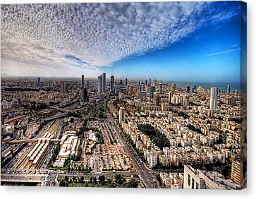 Tel Aviv Skyline Canvas Print by Ron Shoshani