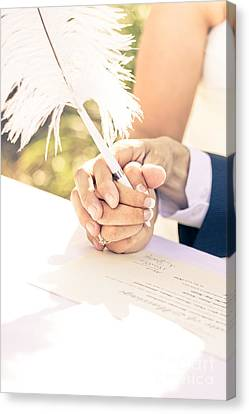 Poignant Canvas Print - Tender Pledge Of Commitment by Jorgo Photography - Wall Art Gallery