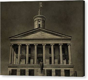 Downtown Nashville Canvas Print - Tennessee Capitol Building by Dan Sproul