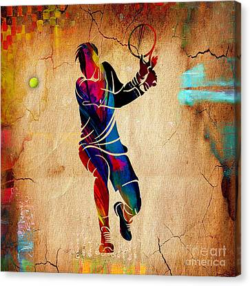 Tennis Canvas Print - Tennis Painting by Marvin Blaine