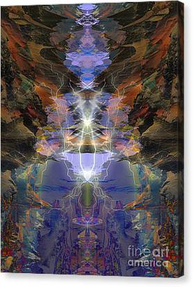 Canvas Print featuring the digital art Tesla's Coil by Ursula Freer