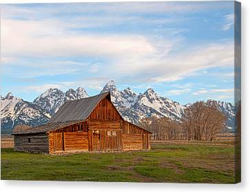 Teton Barn Canvas Print by Steve Stuller