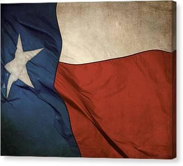 Rustic Texas Flag  Canvas Print by David and Carol Kelly