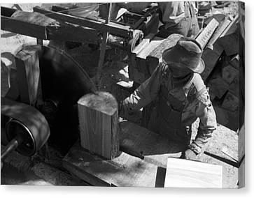 Texas Saw Mill, 1939 Canvas Print