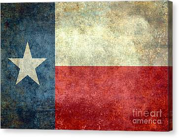 Texas The Lone Star State Canvas Print by Bruce Stanfield