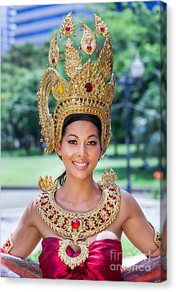 Thai Woman In Traditional Dress Canvas Print by Fototrav Print