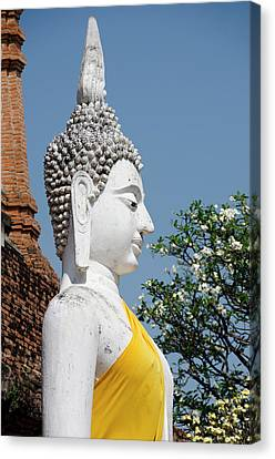 Thailand, Ayutthaya Canvas Print by Cindy Miller Hopkins