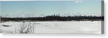 The Alaska Range Canvas Print by Jennifer Kimberly