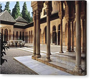 The Alhambra The Court Of The Lions Canvas Print by Guido Montanes Castillo