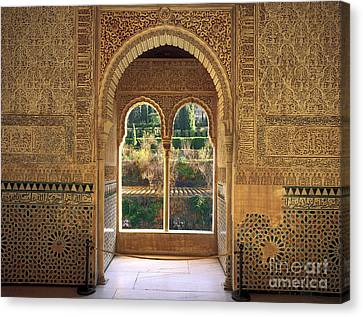 Alhambra Canvas Print - The Alhambra Torre De La Cautiva by Guido Montanes Castillo