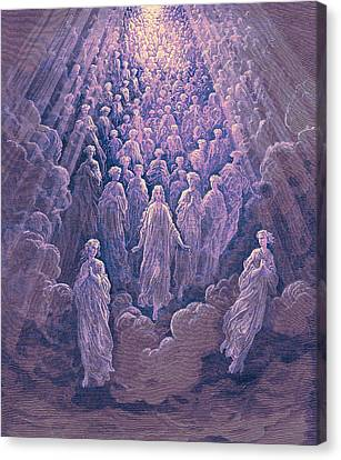 The Angels In The Planet Mercury Canvas Print by Gustave Dore