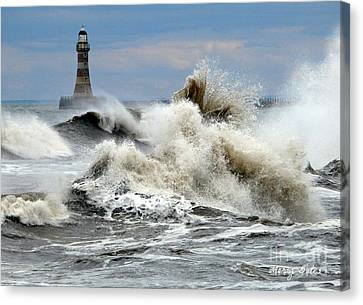 The Angry Sea Canvas Print by Morag Bates