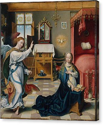 The Annunciation Canvas Print by Celestial Images