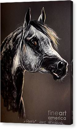 The Arabian Horse Canvas Print by Angel  Tarantella