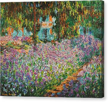 Newy Ork Canvas Print - The Artists Garden At Giverny by Celestial Images