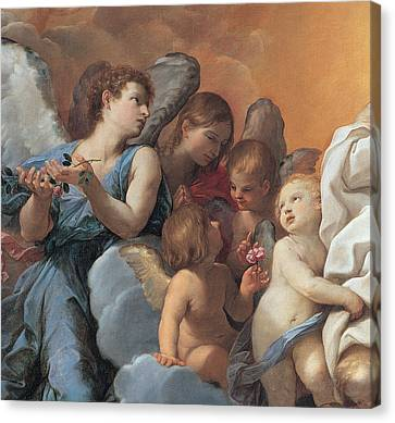 The Assumption Of The Virgin Mary Canvas Print by Guido Reni
