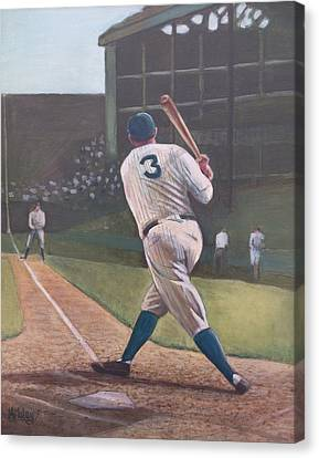 The Babe Sends One Out Canvas Print by Mark Haley