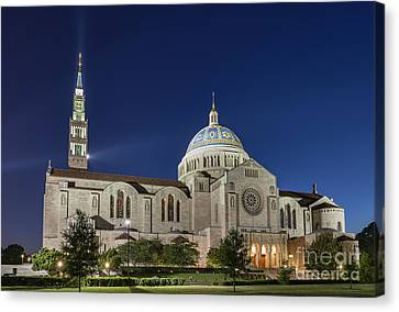 The Basilica Of The National Shrine Of The Immaculate Conception Canvas Print by John Greim