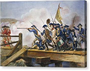 The Battle Of Concord, 1775 Canvas Print by Granger