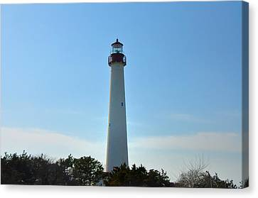 The Beacon Of Cape May Canvas Print by Bill Cannon