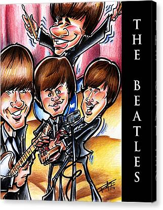The Beatles Canvas Print by Big Mike Roate