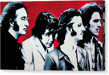The Beatles Canvas Print by Luis Ludzska