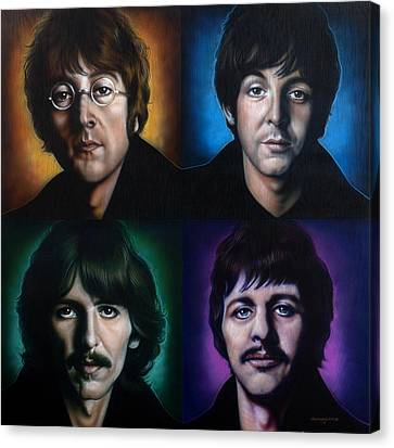 The Beatles Canvas Print by Tim  Scoggins