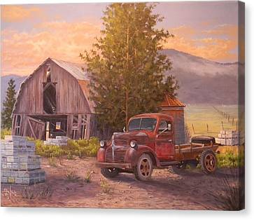 The Beekeepers Barn Canvas Print