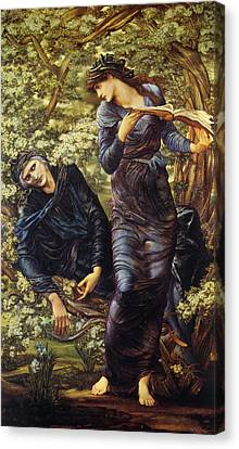 The Beguiling Of Merlin Canvas Print - The Beguiling Of Merlin by Edward Burne Jones