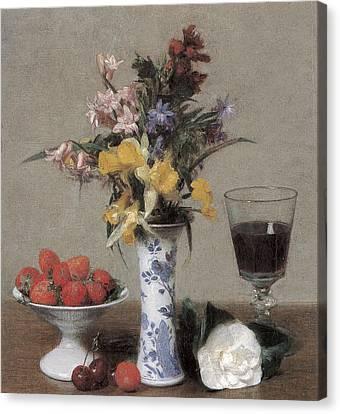 The Betrothal Still Life Canvas Print by Henri Fantin-Latour