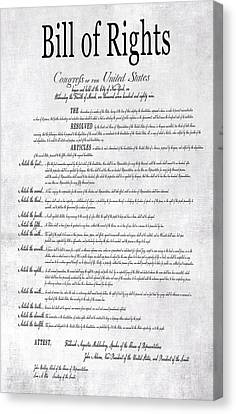 Democrats Canvas Print - The Bill Of Rights H K by Daniel Hagerman