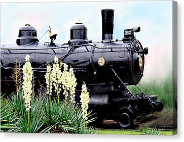 The Black Steam Engine Canvas Print