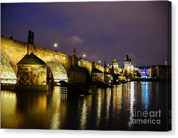 The Bridge Across Canvas Print by Syed Aqueel