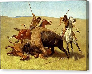 The Buffalo Hunt Canvas Print