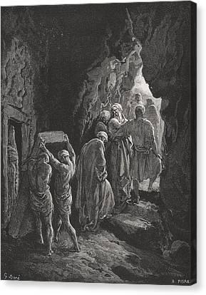The Burial Of Sarah Canvas Print