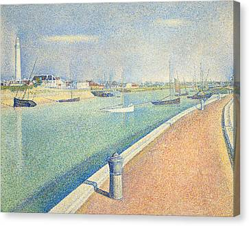 The Channel Of Gravelines Canvas Print by Georges Seurat