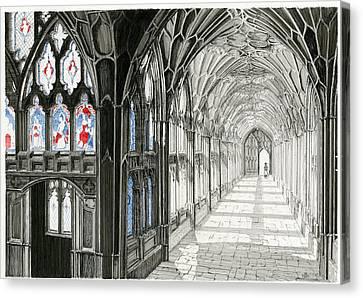 The Cloisters Canvas Print by John Simlett