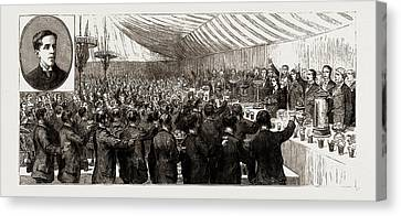 The Coming Of Age Of The Duke Of Newcastle Festivities Canvas Print by Litz Collection